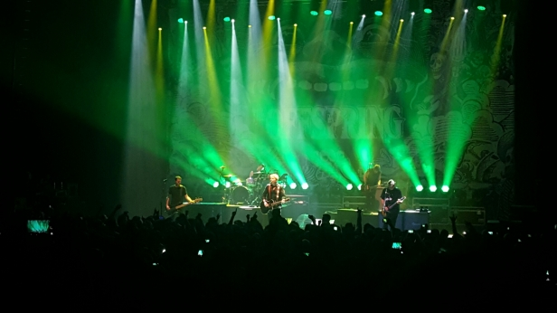 The Offspring performing